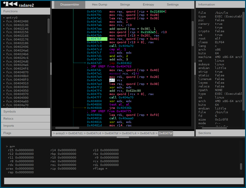 Radare2 Web UI